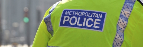 Metropolitan police officer in London, England, UK